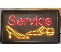 """Реклама светодиодная ремонт обуви """"Service"""""""