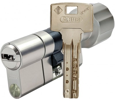 Цилиндр Abus Bravus3000, никель, 30-35, ключ-вертушка