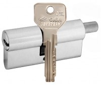 цилиндр cisa asix 30х30, шток, хром