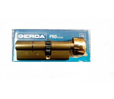 Цилиндр герда pro sistem 50-35 ключ-вертушка(латунь)