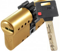 цилиндр MUL-T-LOCK CLASSIC PRO, 31х31, кл-кл, шестерёнка, латунь