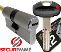 Цилиндр Securemme K2 30х30, кл-шток, хром
