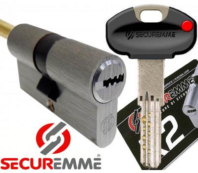 Цилиндр Securemme K2 70х30, кл-шток, хром...