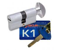 Цилиндр securemme k-1 40-40 ключ-вертушка хром